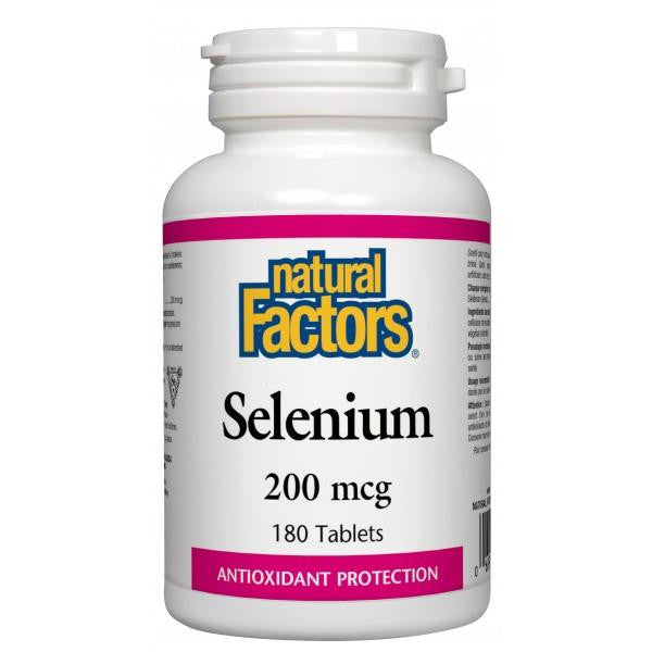 NATURAL FACTORS SELENIUM 180 TABS