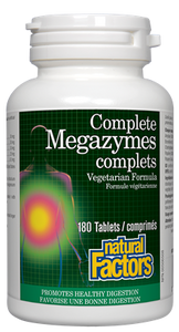 Natural Factors Complete Megazymes 180Tab