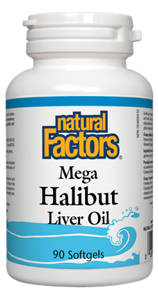 Natural Factors Mega Halibut Oil 90SG