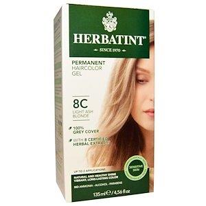 HERBATINT PERMANENT HAIR COLOR GEL 8C Light Ash Blonde 135ML