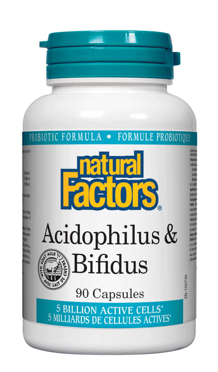 Natural Factors Acidophilus & Bifidus 90Cap
