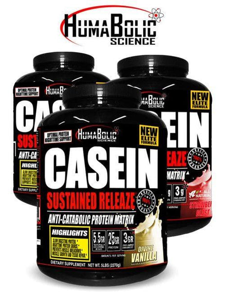 HumaBolic Casein Sustained Releaze Protein Triple Chocolate 5lbs