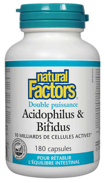Natural Factors Double Strength Acidophilus & Bifidus 180Cap