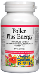 Natural Factors Pollen Plus Energy 90Cap