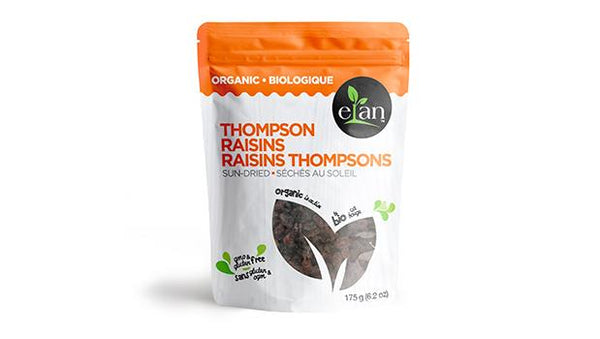 Elan Organic Sun-Dried Thompson Raisins 225G