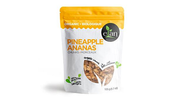 Elan Organic Dried Pineapple Chunks 105G