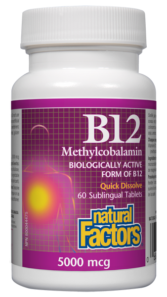 Natural Factors B12 Methyl 5000MCG 60 Sublingual Tablets