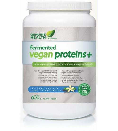 GENUINE HEALTH FERMENTED VEGAN PROTEINS+ 600G VANILLA