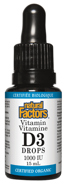 NATURAL FACTORS VITAMIN D3 LIQUID 1000IU 15ML