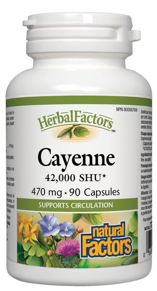 Natural Factors Cayenne 90Cap