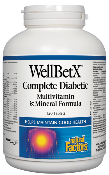 Natural Factors complete Diabetic Multi 120Tab