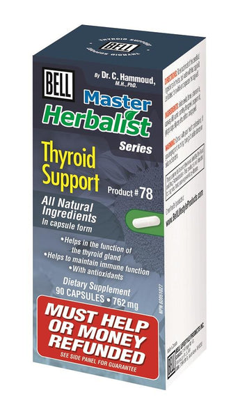 BELL Thyroid Support 762mg 90caps