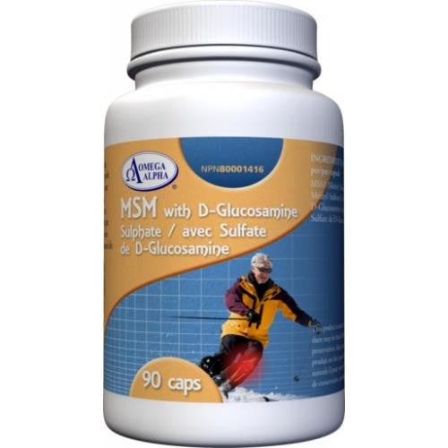 Omega Alpha MSM with D-Glucosamine Sulphate 90Caps
