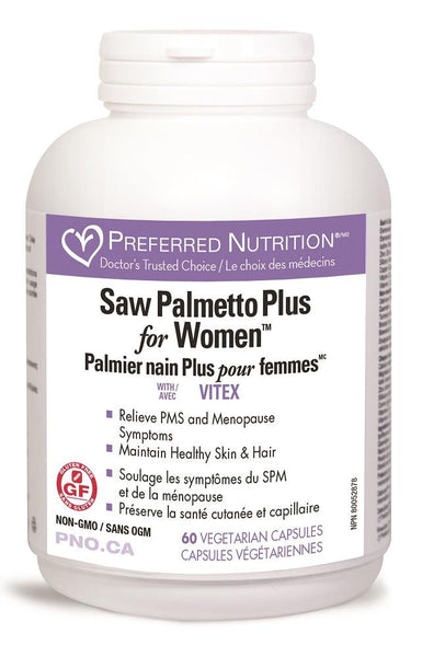 PREFERRED NATURALS Saw Palmetto Plus for Women 60Vcaps*