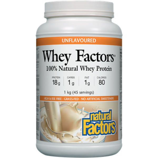 Natural Factors Whey Factors Unflavoured 1kg