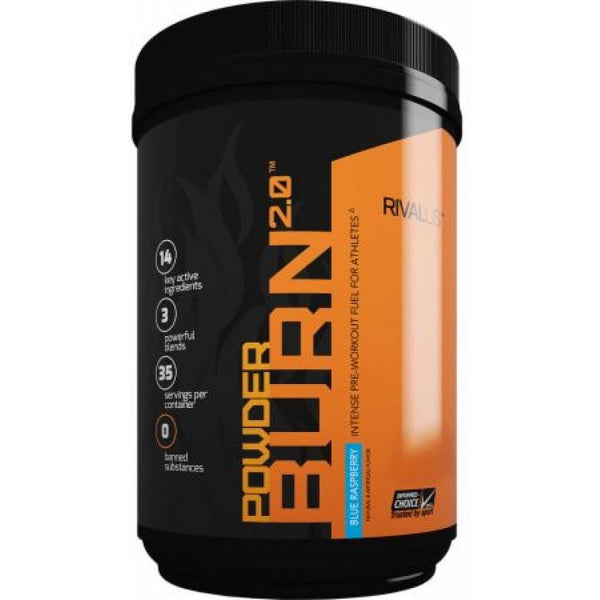 Rivalus Powder Burn 2.0 Blue Raspberry 403g