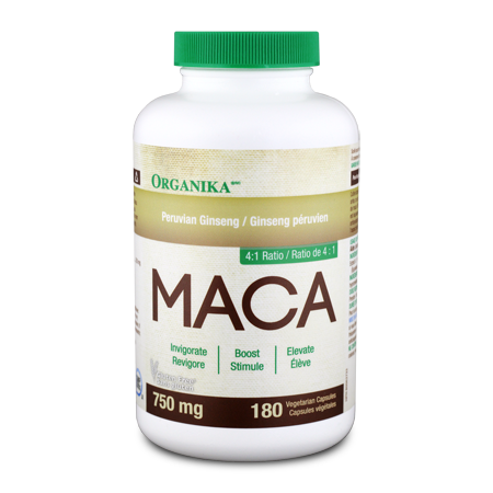 Organika Maca with Ginseng 180vcaps