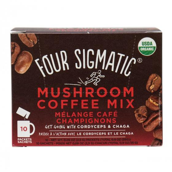 Four Sigmatic Mushroom Coffee with Chaga & Cordyceps 10 Bags