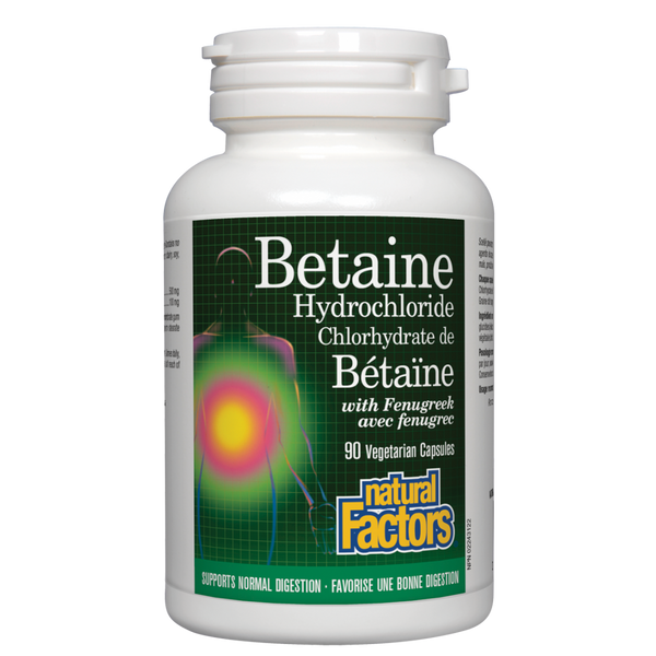 Natural Factors Betaine Hydrochloride 90Cap