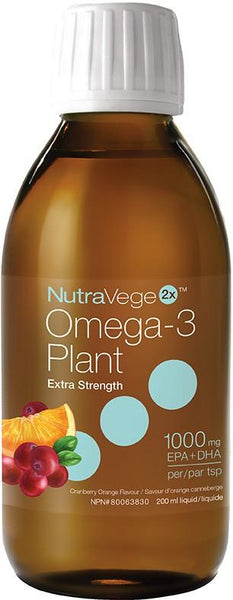 Ascenta NutraVege ExStrength Omega-3 Cran Orange 200ml