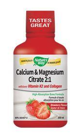 Nature's Way Calcium & Magnesium With K2 Strawberry 500ml