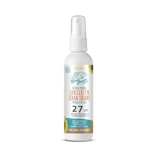 Green Beaver Adult Natural Mineral Sunscreen Spray SPF 27 90ml