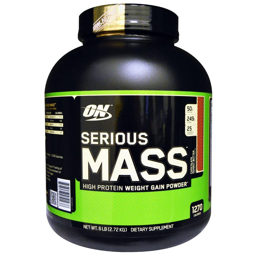 ON Serious Mass Chocolate Peanut Butter 6lbs