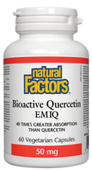 NATURAL FACTORS BIOACTIVE QUERCETIN 60 VCAPS