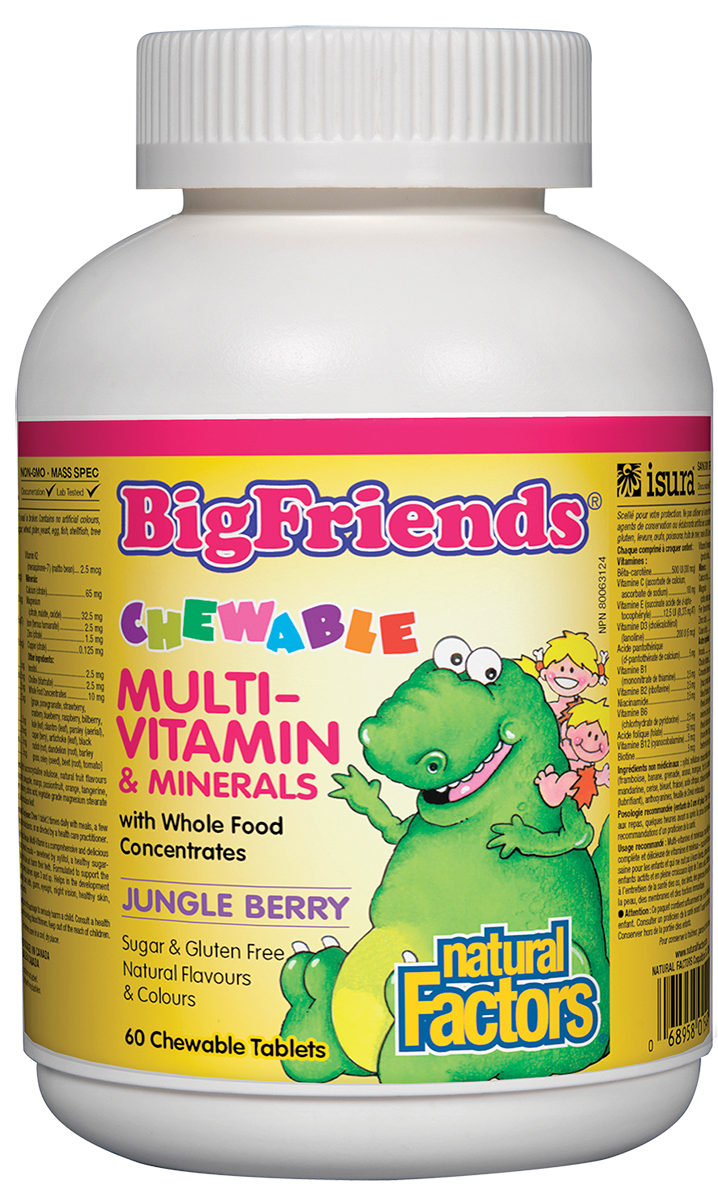 NATURAL FACTORS MULTIVITAMIN JUNGLE BERRY CHEWS