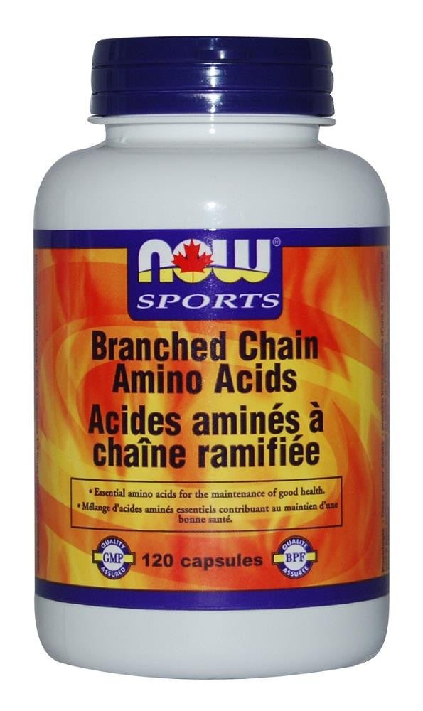 NOW Branched Chain Amino Acids 120Caps
