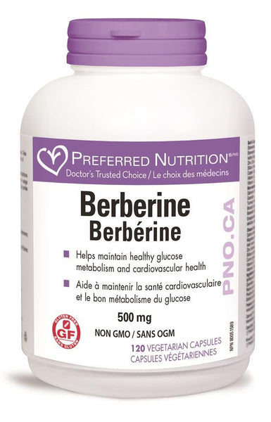 PREFERRED NATURALS Berberine 500mg 120Vcaps *
