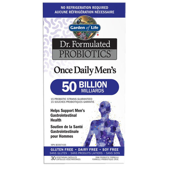 Garden of Life Dr. Formulated Daily Mens 50 Billion 30Vcaps