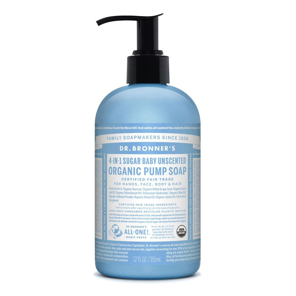 Dr. Bronner Organic Pump Soap Baby Unscented 355ml