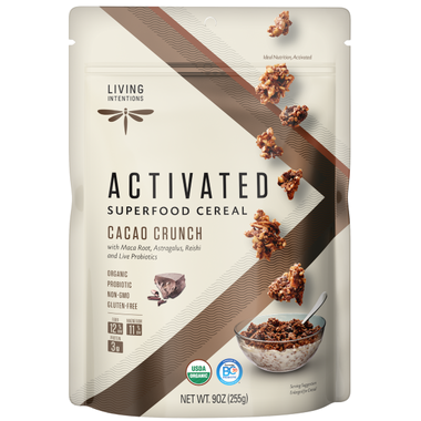 Living Intentions Activated Cacao Crunch Cereal 255G