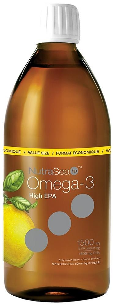 Ascenta NutriSea HP Liquid Omega-3 Lemon 500ml