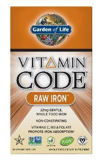 Garden of Life Raw Iron 30Vcaps