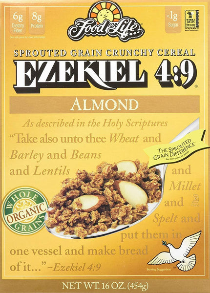 Food For Life Ezekiel 4:9 Almond Sprouted Whole Grain Cereal 454G