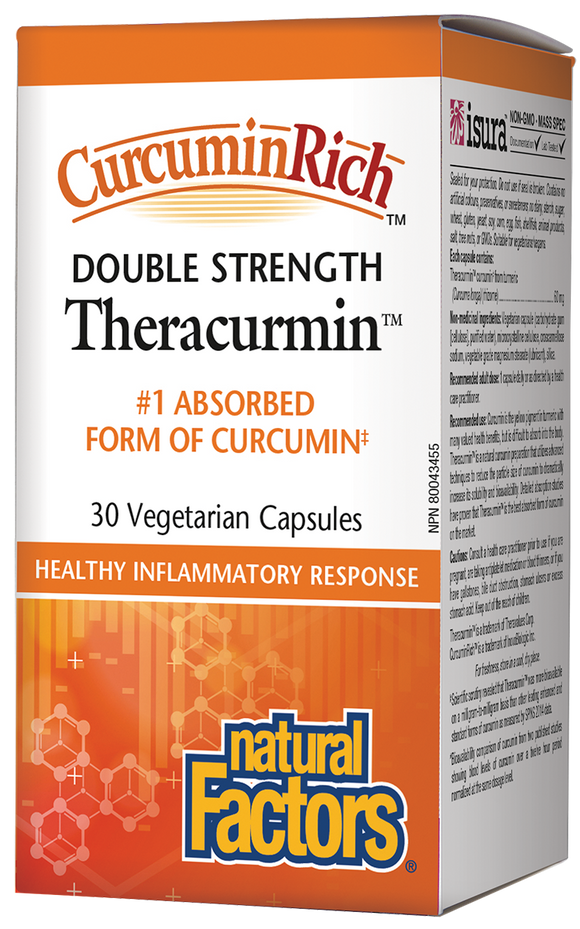 Natural Factors Double Strength Theracurmin 30Caps