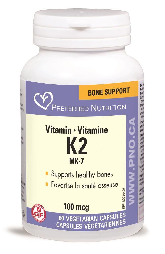 PREFERRED NATURALS Vitamin K2 100mcg 60Vcaps*