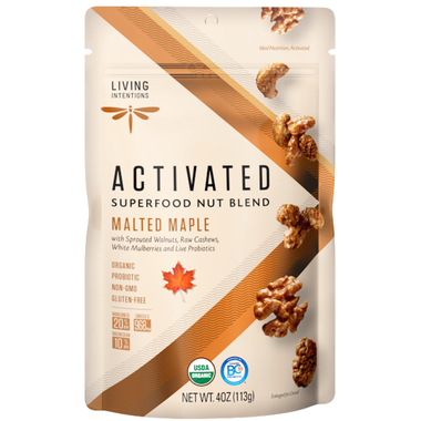 Living Intentions Activated Superfood Nut Blends Malted Maple 113G
