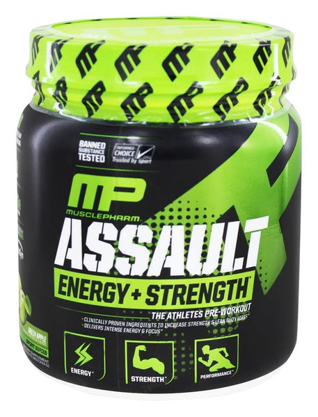 MusclePharm Assault Pre-Workout Green Apple 333g