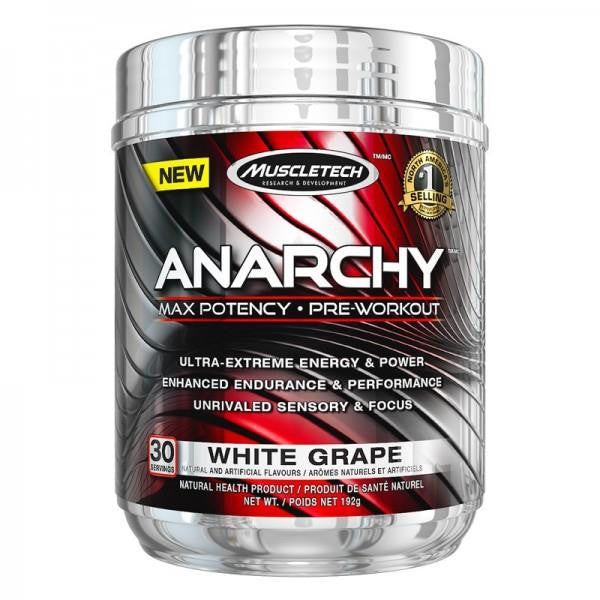MuscleTech Anarchy Pre-Workout White Grape 192g