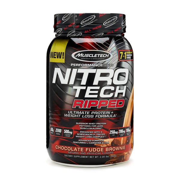 MuscleTech Nitro Tech Ripped Protein Chocolate Fudge Brownie 2lbs