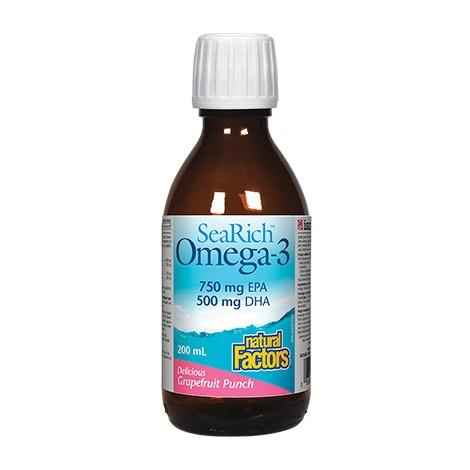 Natural Factors Sea Rich Omega-3 Grapefruit Punch 200ml