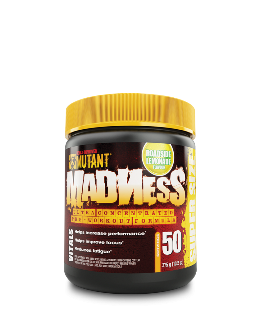 Mutant Madness Pre-Workout Mutant Madness Roadside Lemonade 375g