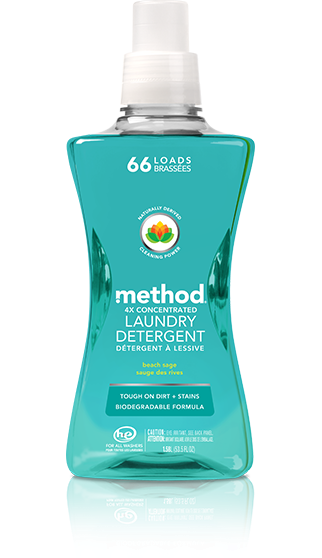 Method 4x Concentrated Laundry Detergent Beach Sage 1.58L