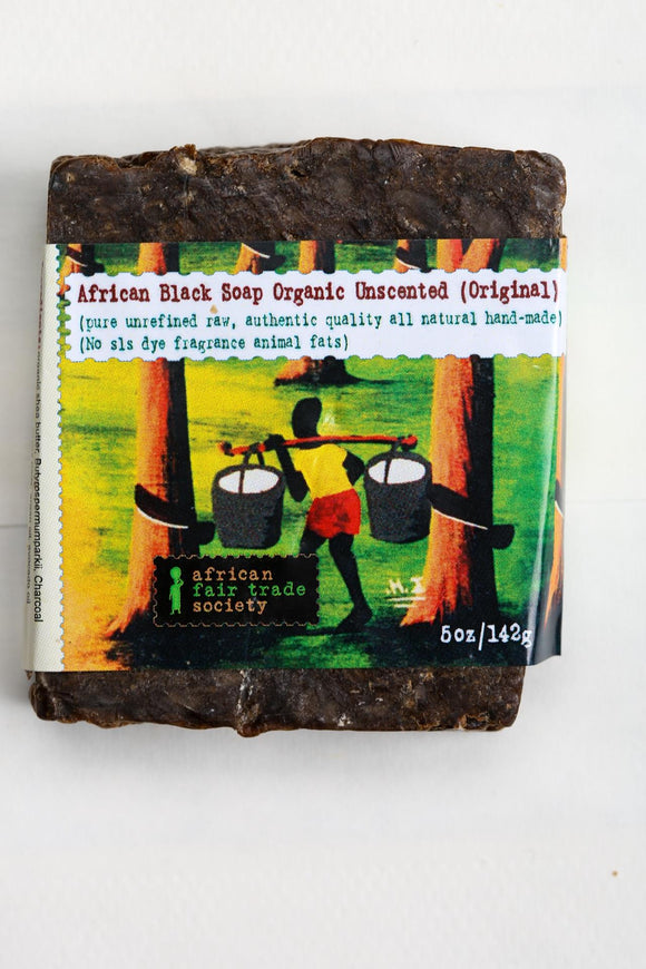 African Organic Black Soap - Unscented