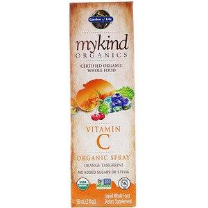 Garden of Life Mykind Organics Vitamin C Organic Spray Orange-Tangerine 58ML