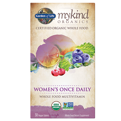 Garden Of Life Mykind Organics Women's Once Daily Multivitamins 30 Vegan Tablets