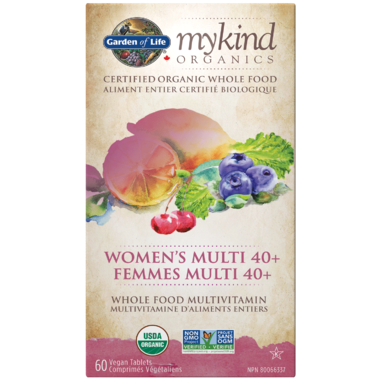 Garden of Life MyKind Organics Women's Multi 40+ 60 Tablets